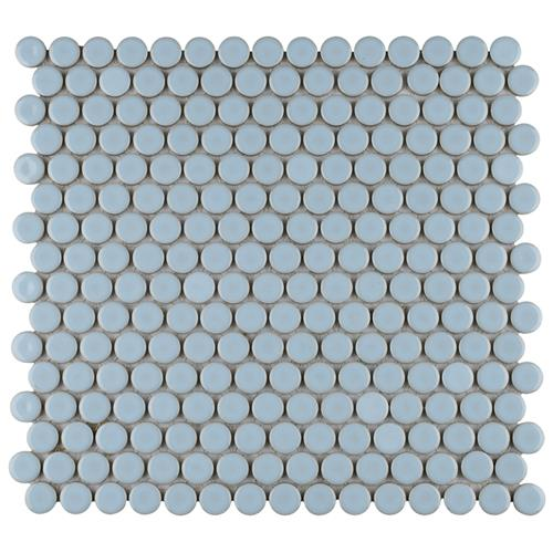 "Picture of 12.63"" x 12 Hudson Penny Round Cashmere Blue"