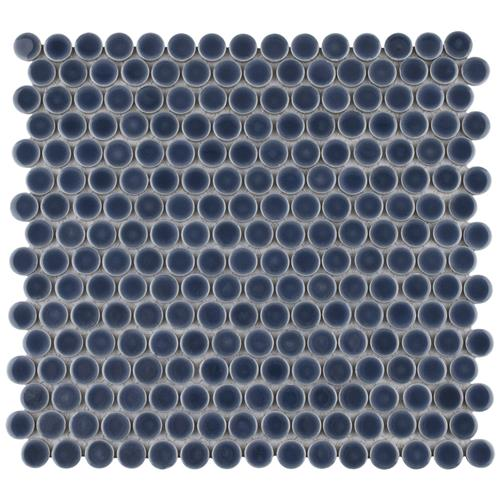 "Picture of 12.63""x12"" Hudson Penny Round Denim Blue"