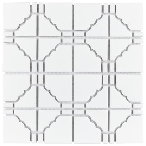 "Picture of Osaka Matte White 11-3/4""x11-3/4"" Porcelain Mosaic"