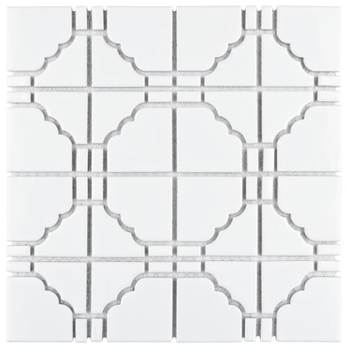 "Picture of Osaka Glossy White 11-3/4""x11-3/4"" Porcelain Mosaic"