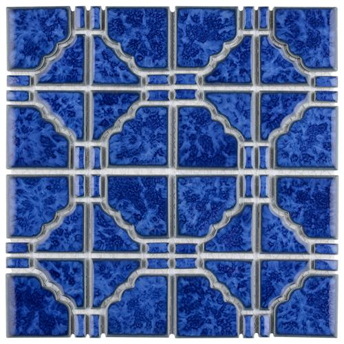 "Picture of Osaka Blue Cloud 11-3/4""x11-3/4"" Porcelain Mosaic"