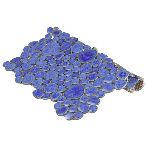 Blue SomerTile FKOPS144 Boulder Cloud Porcelain Floor and Wall Tile 11 x 11