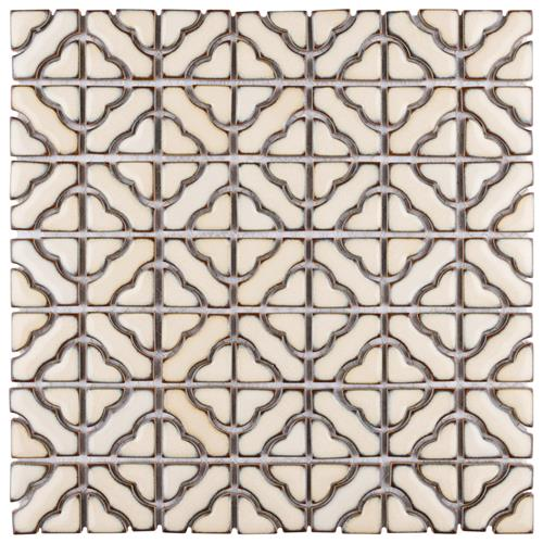 "Picture of Tower Beige 12-1/2""x12-1/2"" Porcelain Mosaic"