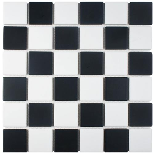 "Picture of Squire Quad Checkerboard 12-1/2""x12-1/2"" Porc Mos SQ 1035"