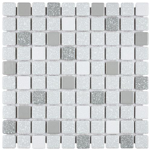 "Picture of Crystalline Square Grey 11-3/4""x11-3/4"" Porcelain Mos"