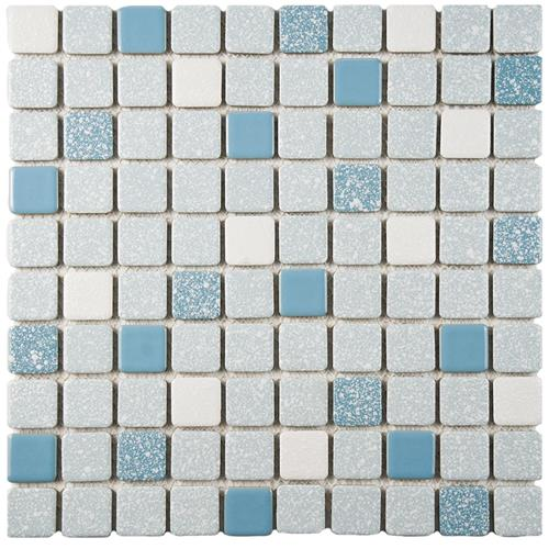"Picture of Crystalline Square Blue 11-3/4""x11-3/4"" Porc Mos SRR 924"