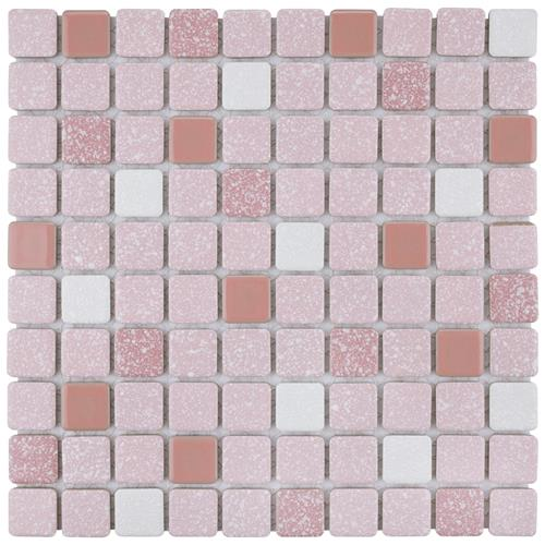 "Picture of Crystalline Square Pink 11-3/4""x11-3/4"" Porc Mos SRR 918"
