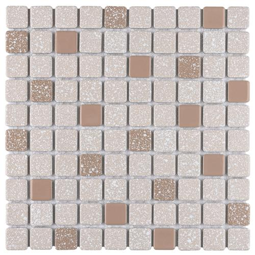 "Picture of Crystalline Square Beige 11-3/4""x11-3/4"" Porc Mos SRR923"