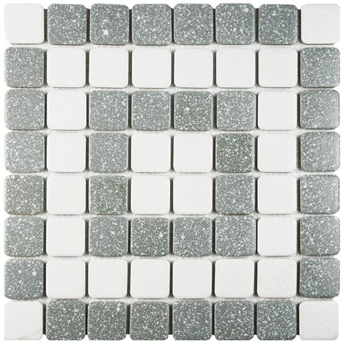"Picture of Crystalline Market Sq Grey 11-3/4""x11-3/4"" Porc Mos SSQ708"