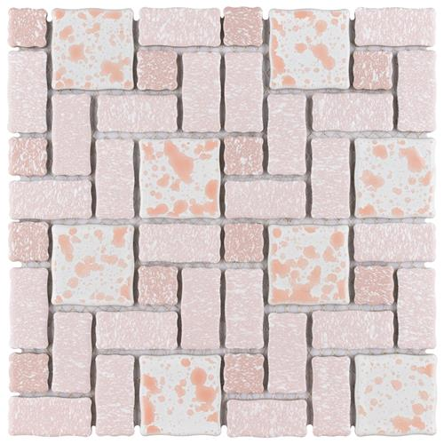 "Picture of Academy Pink 11-3/4""x11-3/4"" Porcelain Mos TMR-413"