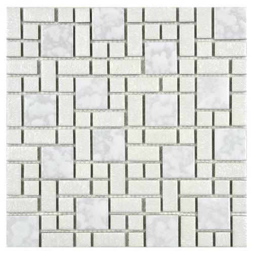 "Picture of University White 11-3/4""x11-3/4"" Porcelain Mos"