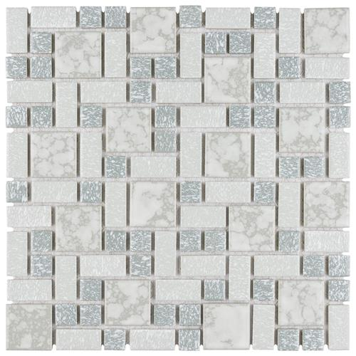 "Picture of University Light Grey 11-3/4""x11-3/4"" Porcelain Mos"