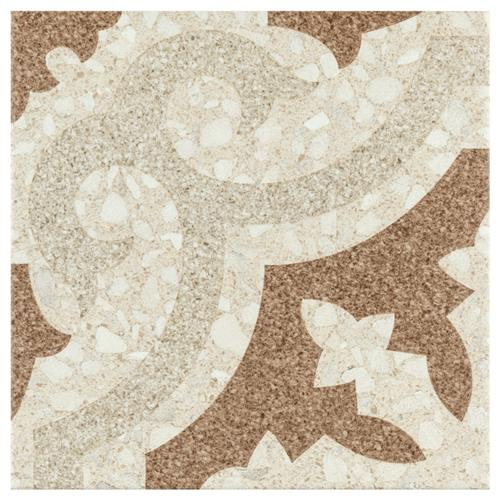 "Picture of Ferra Beige 7-3/4"" x 7-3/4""  Ceramic Floor/Wall Tile"