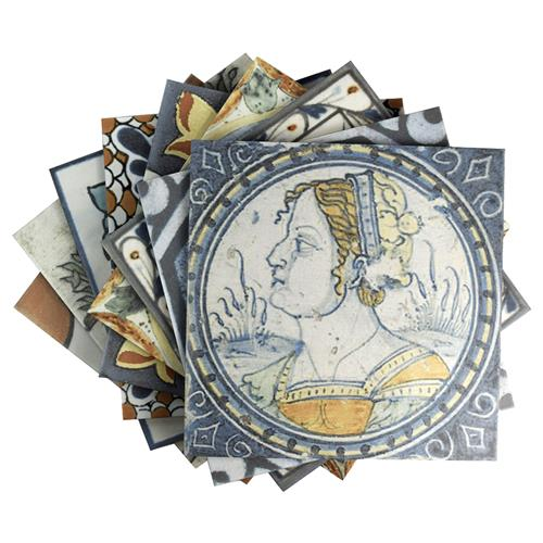 "Picture of Antique Azul Mix 12-3/8""x12-3/8"" Ceramic F/W Tile"