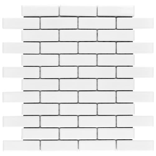 "Picture of Metro Brick Subway Gl White 11-1/2""x11-3/4"" Porcelain Mosaic"