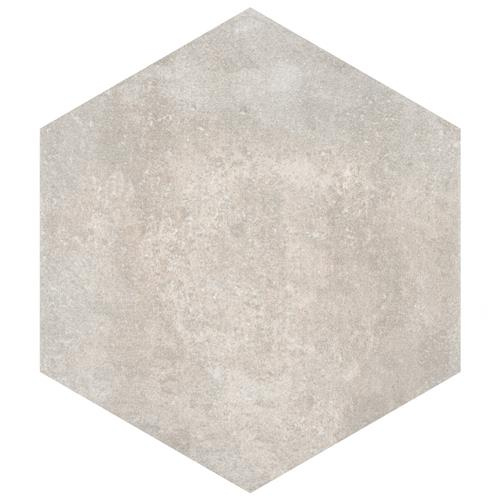 "Picture of Boston Ferro Hex Bianco 14-1/8""x16-1/4"" Porcelain F/W Tile"