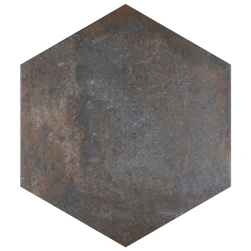 "Picture of Boston Ferro Hex Ombra 14-1/8""x16-1/4"" Porcelain F/W Tile"
