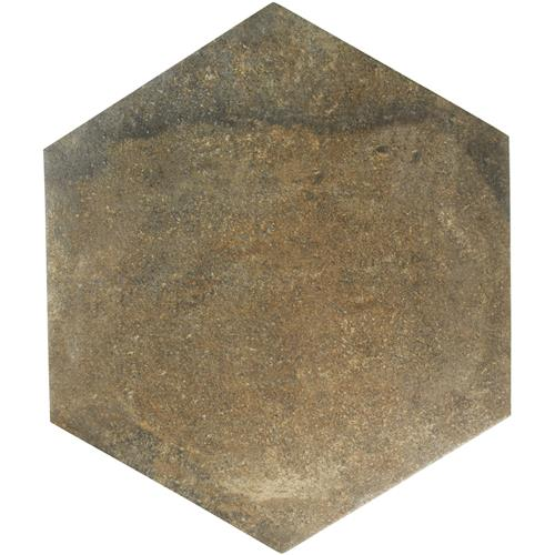 "Picture of Boston Ferro Hex Rosso 14-1/8""x16-1/4"" Porcelain F/W Tile"