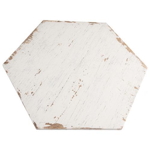 Retro Hex Blanc 14 1 8 X16 4