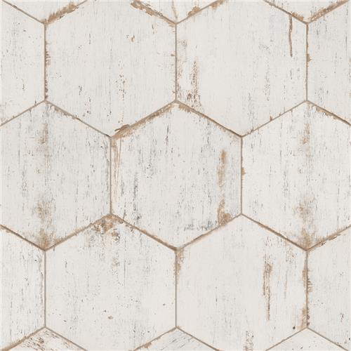 "Picture of Retro Hex Blanc 14-1/8""x16-1/4"" Porcelain F/W Tile"