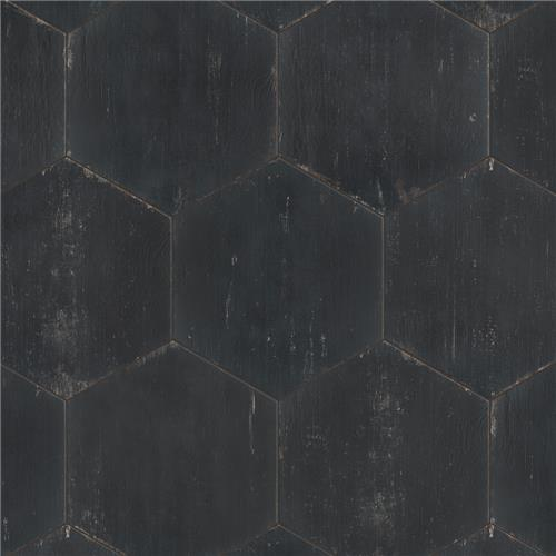 "Picture of Retro Hex Nero 14-1/8""x16-1/4"" Porcelain F/W Tile"