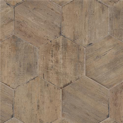 "Picture of Retro Hex Terra 14-1/8""x16-1/4"" Porcelain F/W Tile"