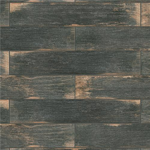 "Picture of Bora Dark 3-1/8""x17-1/2"" Porcelain F/W Tile"
