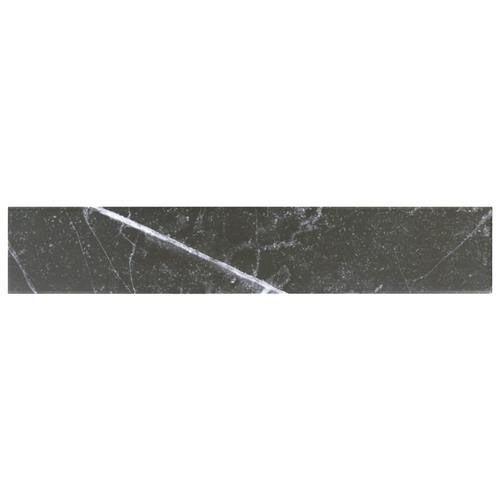 "Picture of Tinos Black 3-1/8""x17-3/8"" Porcelain F/W Tile"
