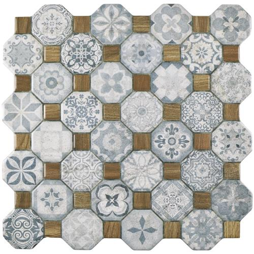 "Picture of Tessera Blue 12-1/4""x12-1/4"" Ceramic F/W Tile"