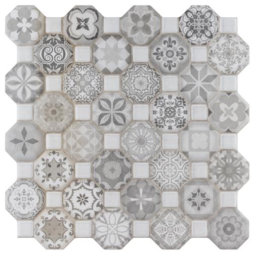 "Picture of Tessera Grey 12-1/4""x12-1/4"" Ceramic F/W Tile"