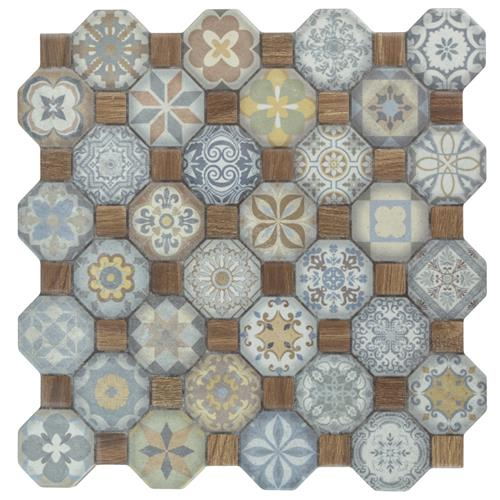 "Picture of Tessera Multi 12-1/4""x12-1/4"" Ceramic F/W Tile"