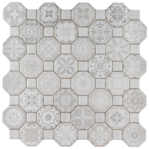 "Picture of Tessera White 12-1/4""x12-1/4"" Ceramic F/W Tile"