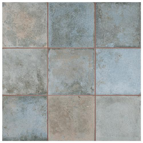 "Picture of Kings Etna Blue 13 -1/8""x13 -1/8"" Ceramic Floor/Wall Tile"
