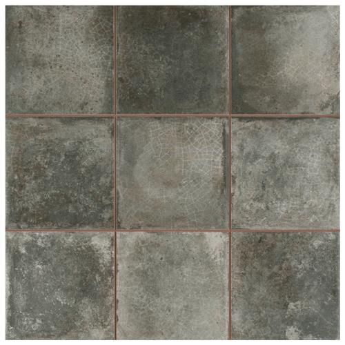"Picture of Kings Etna Nero 13-1/8""x13-1/8"" Ceramic Floor/Wall Tile"