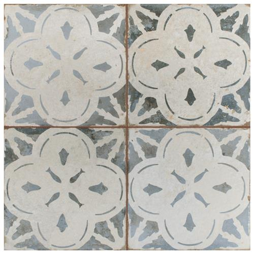 "Picture of Kings Aurora Blue 17-5/8""x17-5/8"" Ceramic Floor/Wall Tile"