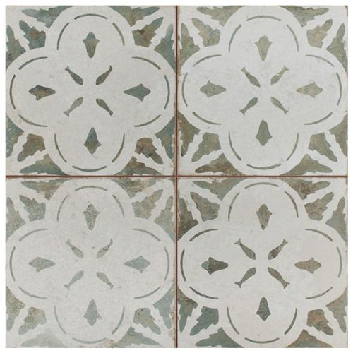 "Picture of Kings Aurora Sage 17-5/8""x17-5/8"" Ceramic Floor/Wall Tile"