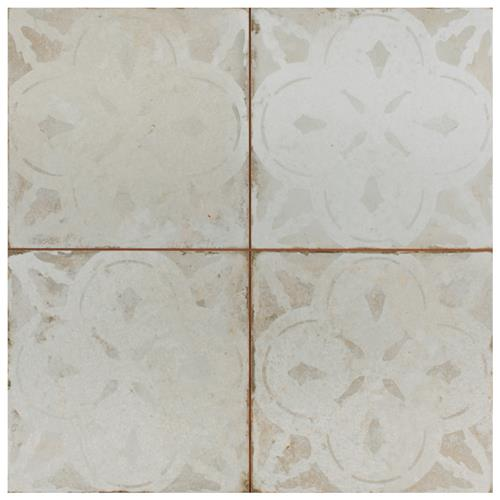 "Picture of Kings Aurora White 17-5/8""x17-5/8"" Ceramic Floor/Wall Tile"