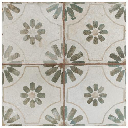 "Picture of Kings Blume Sage 17-5/8""x17-5/8"" Ceramic Floor/Wall Tile"