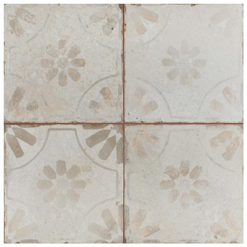 "Picture of Kings Blume White 17-5/8""x17-5/8"" Ceramic Floor/Wall Tile"