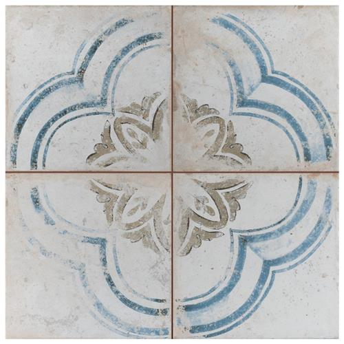 "Picture of Kings Root Blossom 17-5/8""x17-5/8"" Ceramic F/W Tile"