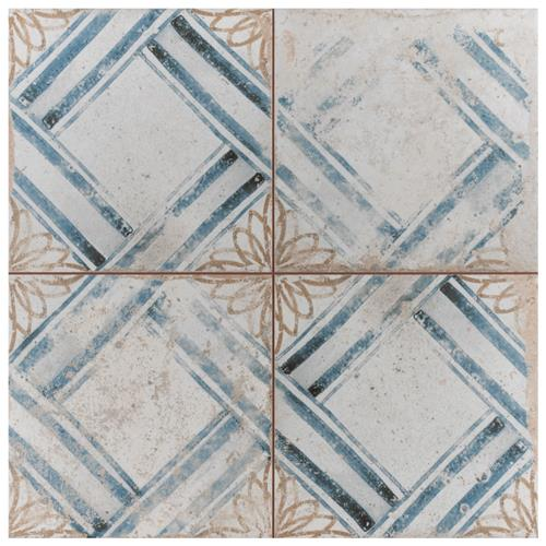 "Picture of Kings Root Lattice 17-5/8""x17-5/8"" Ceramic F/W Tile"