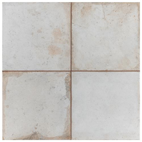 "Picture of Kings Root Distressed White 17-5/8""x17-5/8"" Ceramic F/W Tile"