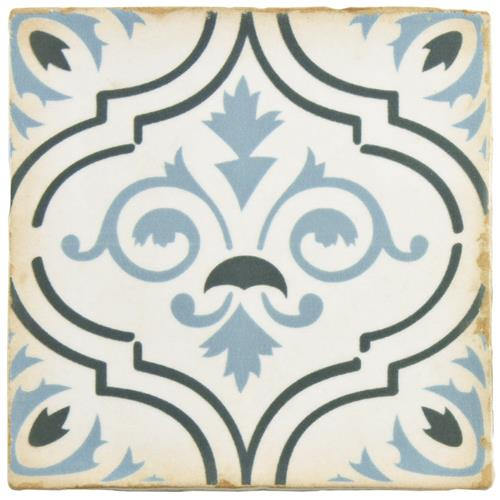 "Picture of Archivo Fleur De Lis 4-7/8""x4-7/8"" Ceramic F/W Tile"