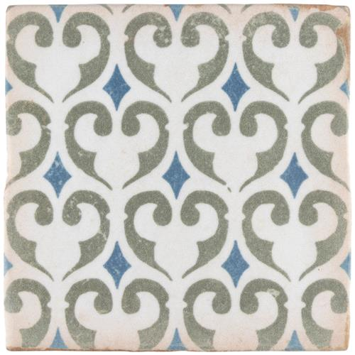 "Picture of 4-7/8""x4-7/8"" Archivo Khazana Ceramic Floor and Wall Tile"