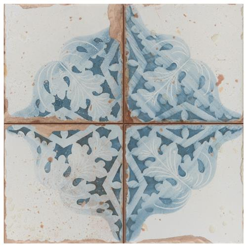 "Picture of Artisan Azul Decor 13"" x 13"" Ceramic Floor & Wall Tile"