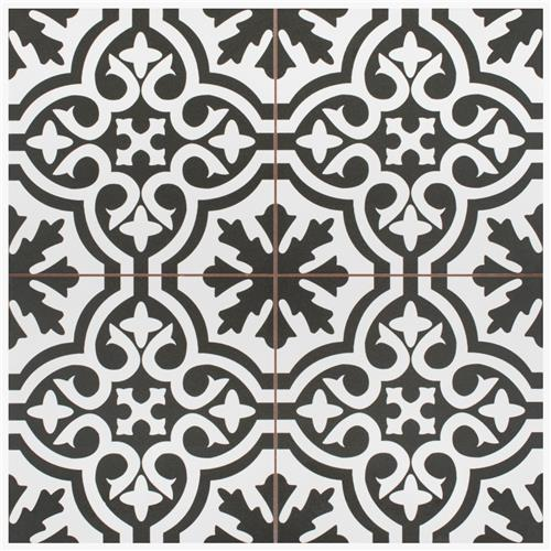 "Picture of Berkeley Black 17-5/8""x17-5/8"" Ceramic Floor/Wall Tile"