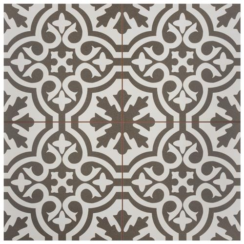 "Picture of Berkeley Charcoal Brown 17-5/8""x17-5/8"" Ceramic F/W Tile"