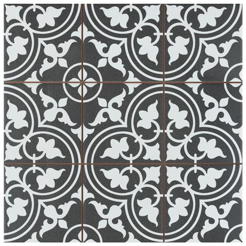 "Picture of Harmonia Classic Black 13""x13"" Ceramic Floor/Wall Tile"