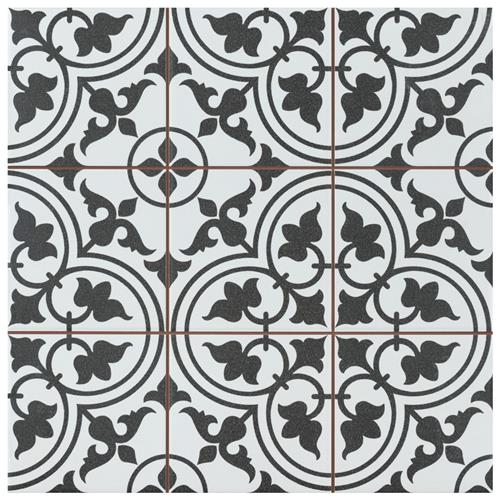 "Picture of Harmonia Classic White 13""x13"" Ceramic Floor/Wall Tile"