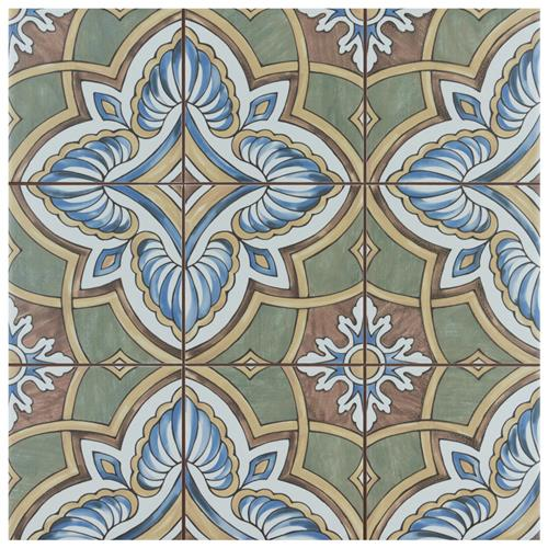 "Picture of Harmonia Grove Green 13""x13"" Ceramic Floor/Wall Tile"